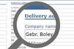 Delivery address